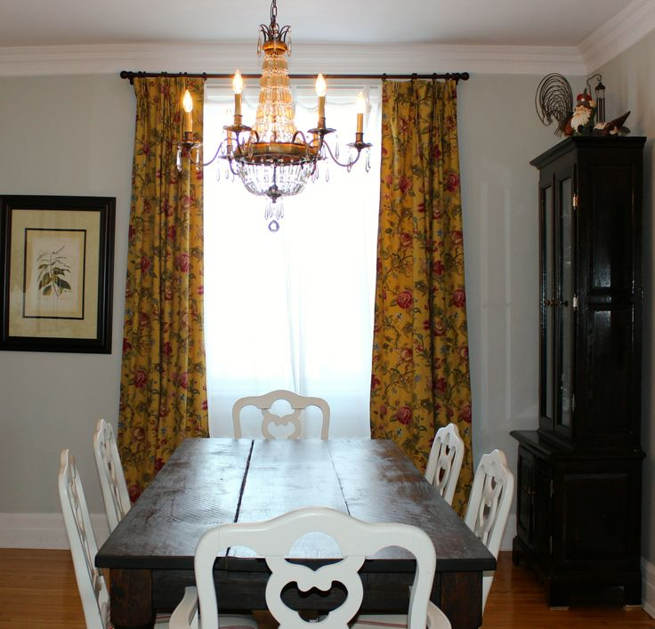 diy curtains for dining room