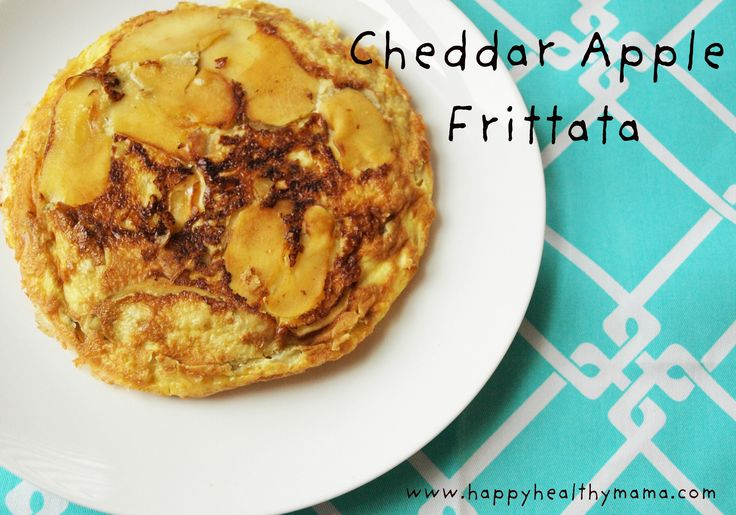 apple cheddar frittata. Fabulous breakfast! I love it with feta and ...