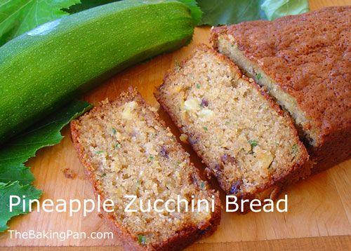 Pineapple Zucchini Bread Recipe | Bread/Crackers/Dough/Muffins | Pint ...