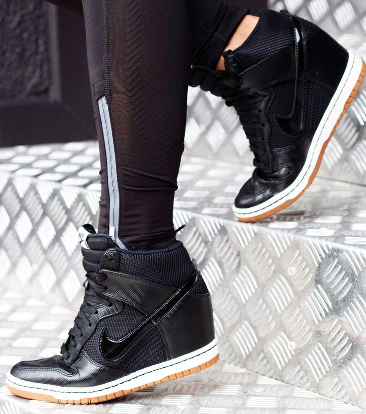 Nike Dunk Wedge Sneaker   shoes   Pinterest Nike Fast Love Sky High Wedge Sneakers