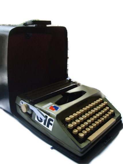 Typewriter by FindTreasuredVintage on Etsy, $95.00