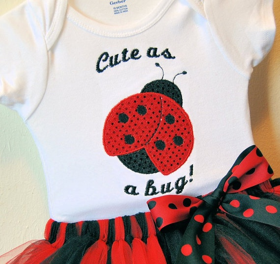 Lady bug tutu set Sizes NB 3m 6m 12m 18m by SimplieGirlieDesigns, $30.00