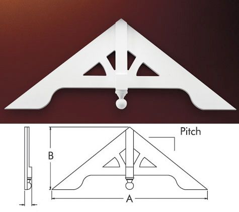 fypon gable pediment the home pinterest