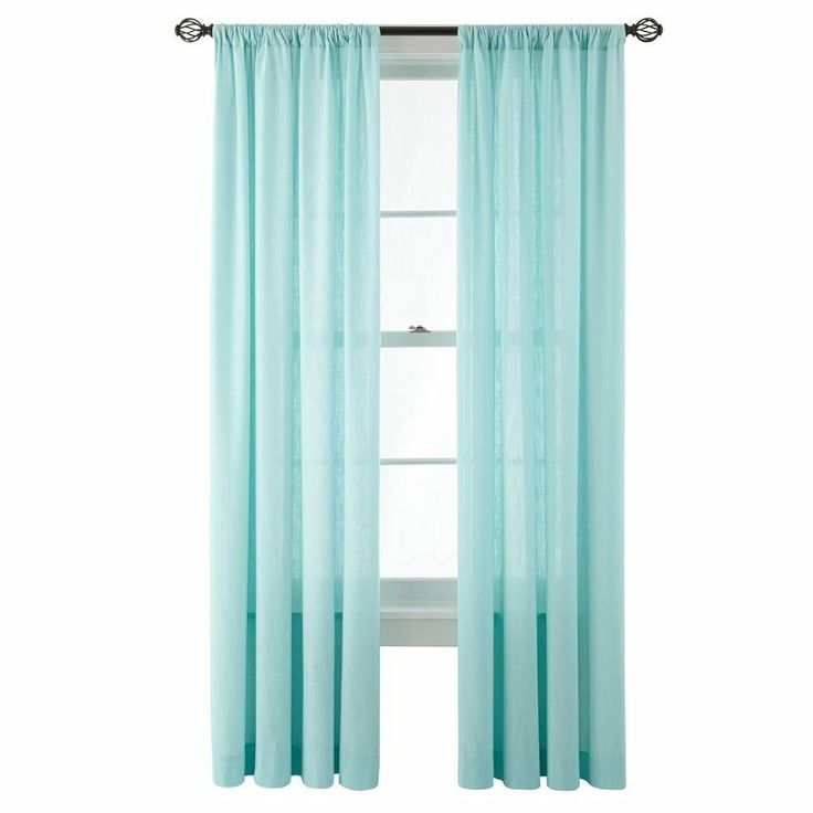 jcpenney marthawindow hawley rod pocket cotton curtain panel jcpenney
