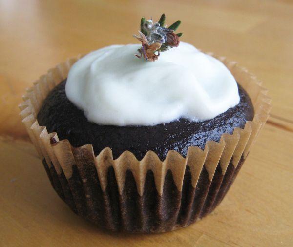 Rosemary chocolate cupcakes