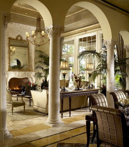 love the arches with columns decor pinterest