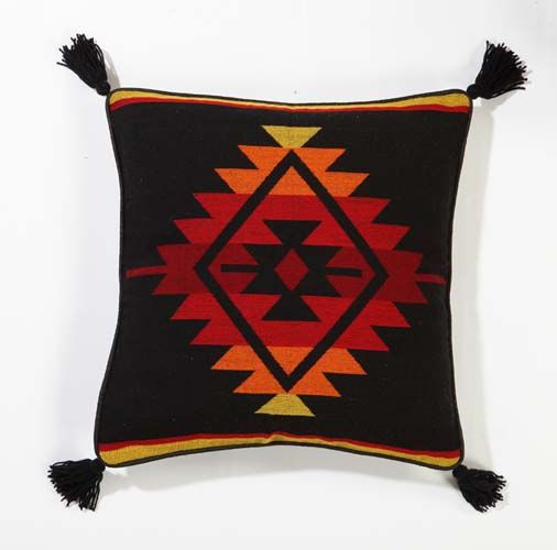 Southwest Decor Southwest Pillows Two Handwoven Decorative Pillow Covers in Black Sunset ...