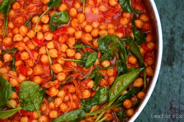 spiced chickpeas with spinach | Recipes | Pinterest