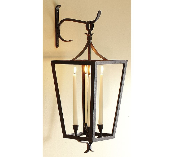Wall Mount Taper Lanterns Pottery Barn porch Pinterest