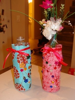 Recycled Water Bottle Fabric Vases A Kids 39 Craft
