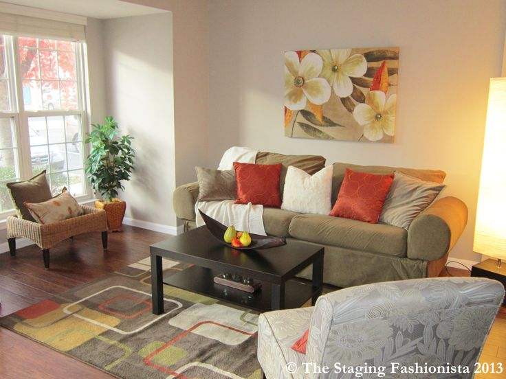 Staged living room sold in 4 days home staging ideas for Staged living room ideas