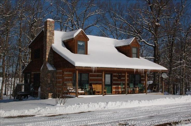 Snow covered log cabin fever pinterest