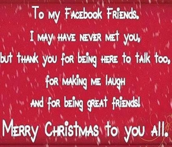 Christmas Quotes For Facebook To my facebook friends quotesFunny Winter Quotes For Facebook