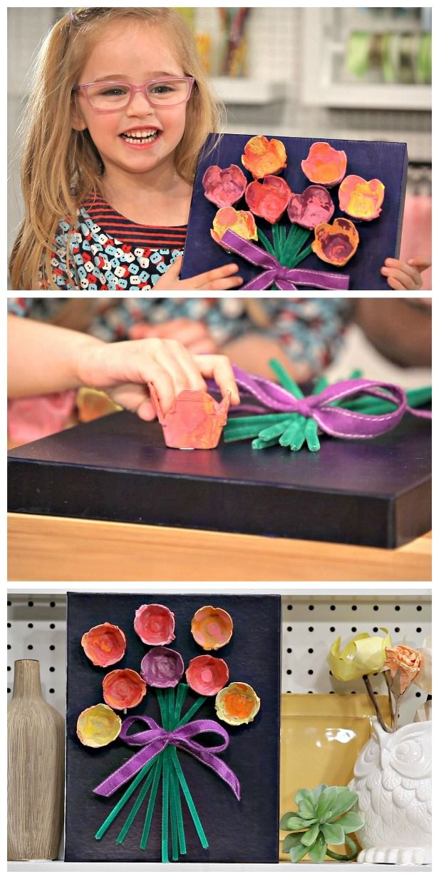 HGTV Crafternoon: Egg Carton Kid's Art for Mother's Day (http://blog.hgtv.com/design/2014/04/29/egg-carton-mothers-day-kids-art-craft-diy/?soc=pinterest)