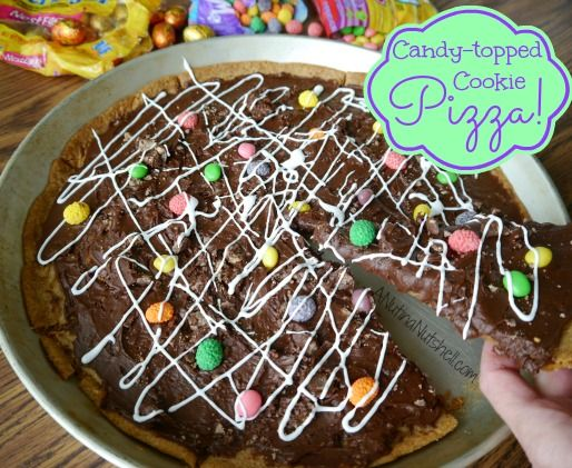 Easy Candy Topped Cookie Pizza with Nestle Easter Candy