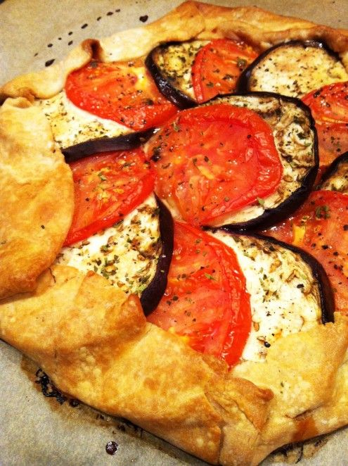 Heirloom Tomato and Eggplant Galette: A pair of late summer veggies ...