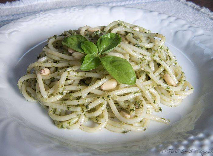 Spaghetti al Pesto Genovese | Eats | Pinterest