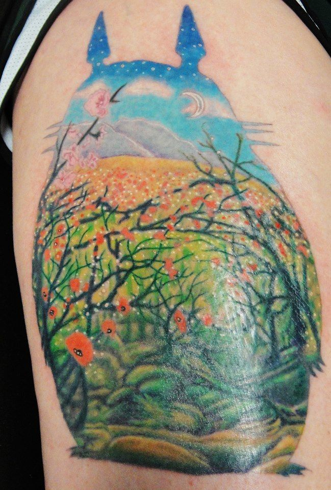 My neighbor Totoro tattoo. Uprock, Midland Tx | Tattoos I ...