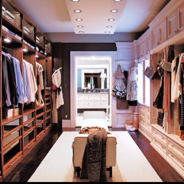his hers walk in closet for the home pinterest