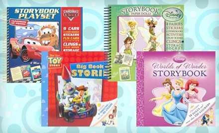 $19 for choice of 2 Disney Interactive Storybooks full of stickers, projects, cardboard cutouts, play scenes and more.