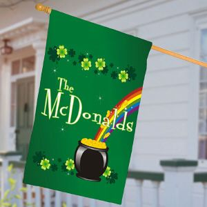 st patrick day flag with black or green stripes