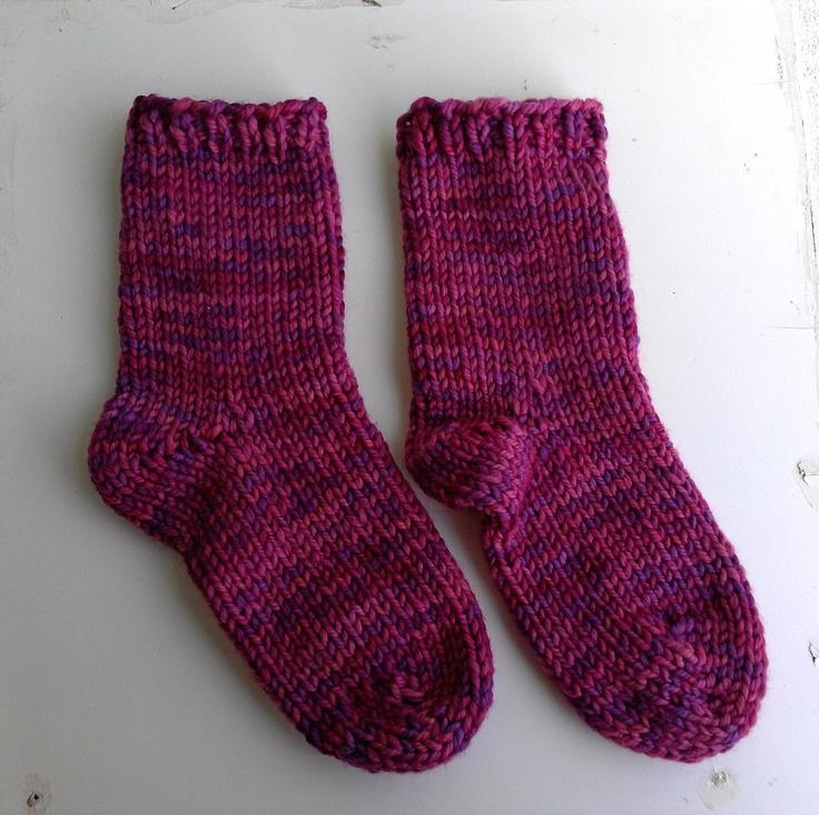 KNIT-O-MATIC: Free Pattern: Quick Socks Knitting Pinterest