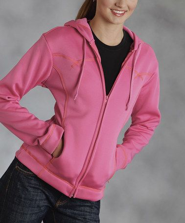 Another great find on #zulily! Pink Zip-Up Hoodie - Women & Plus