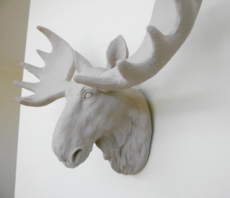 Faux moose head home pinterest - Fake stuffed moose head ...