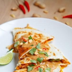 ... like this: peanut chicken , chicken quesadillas and spicy peanut