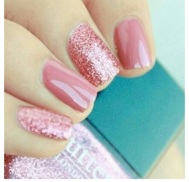 Salmon pink nail polish