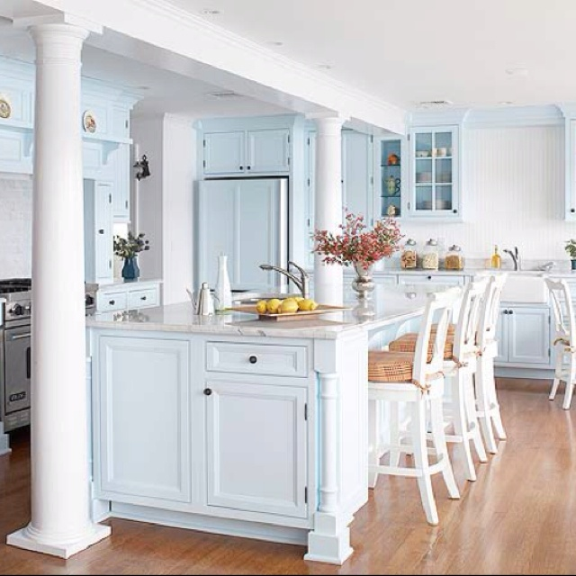 White Kitchen With Large Island Kitchen Pinterest