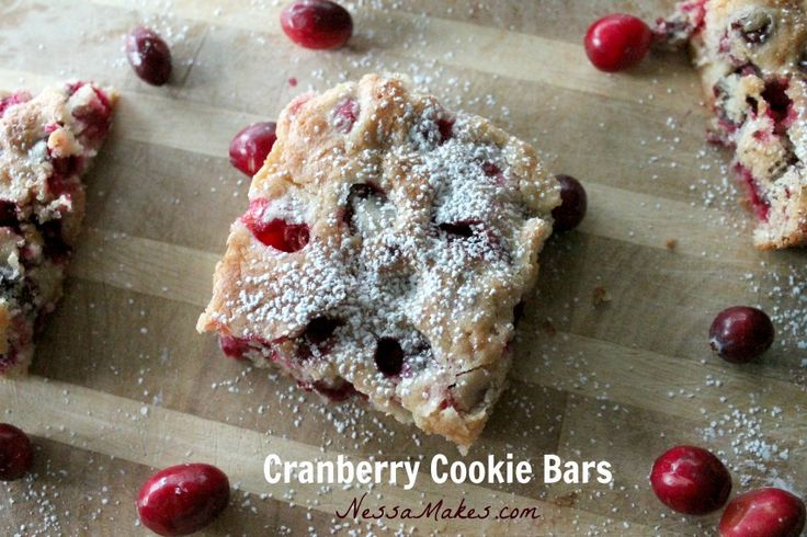 Cranberry Cookie Bars | favorite food | Pinterest