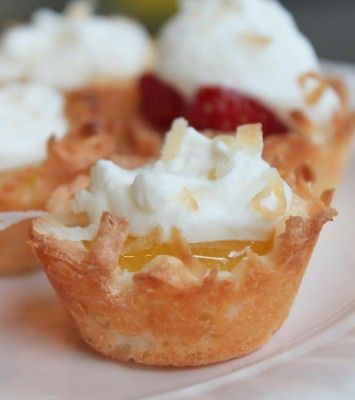 Lemon Coconut Macaroon Tartlets | Yum. | Pinterest