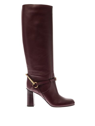 Shop now: Gucci Tess Horsebit Leather Boots
