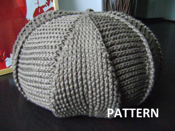 PDF Pattern Large Crochet Pouf Poof, Ottoman, Footstool ...