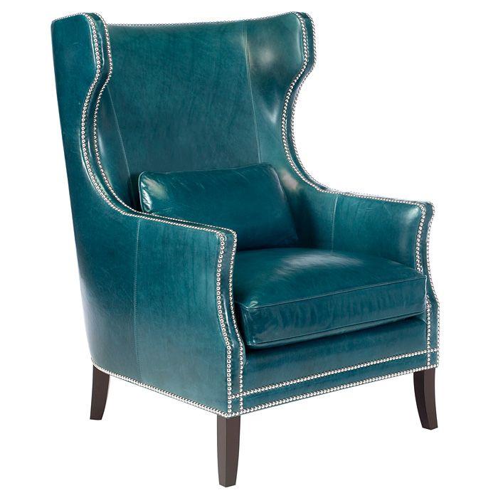 Peacock Blue Wingback Chair.  Susans favorite things  Pinterest