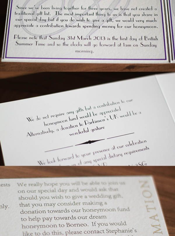 Money As A Wedding Gift Etiquette : Gift lists, asking for money as a wedding gift & etiquette
