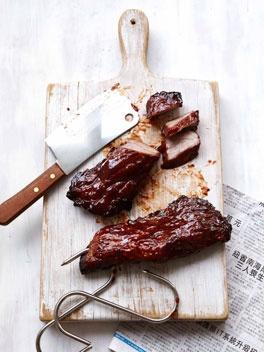 Char siu, the smoky red-glazed pork dripping with sticky caramelised ...