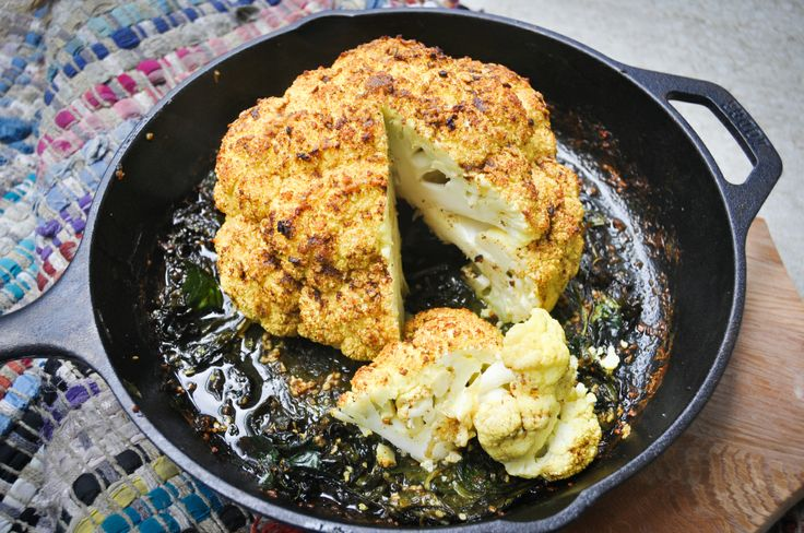 MADE - whole baked cauliflower w. coconut and curry. delicious and ...