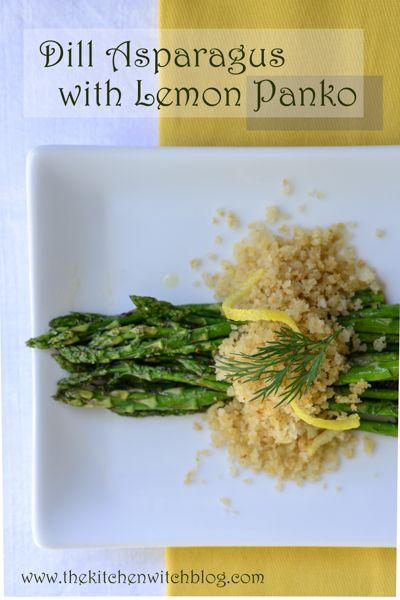 Dill Asparagus with Lemon Panko | Good eats | Pinterest