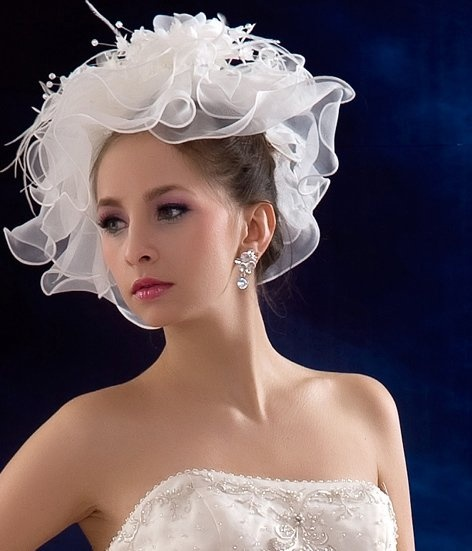 Wedding hat wear bridal costumes pinterest for Dress hats for weddings