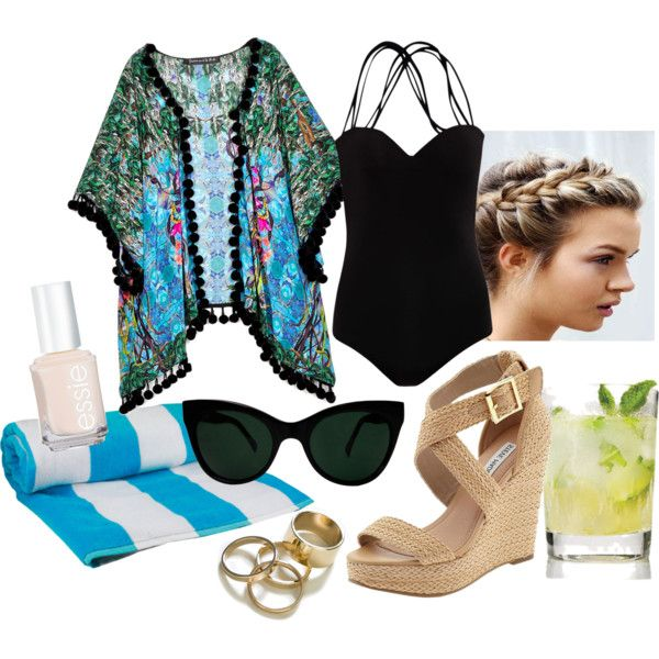 """Poolside Chic"" by caitlinterese on Polyvore"