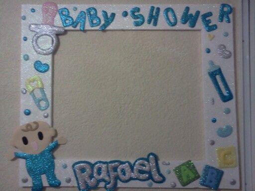 Marcos de unicel para baby shower - Imagui