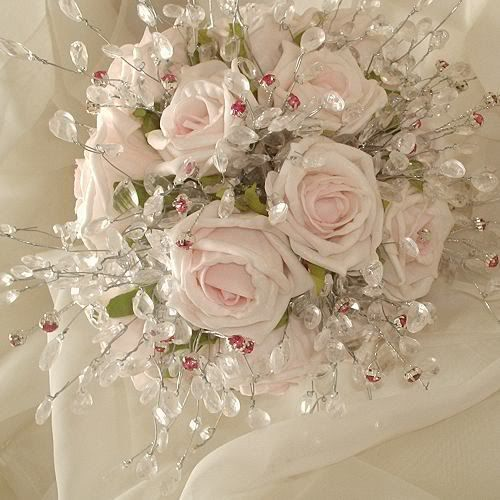 Bridal Flowers With Bling : Bling wedding bouquet events fashions