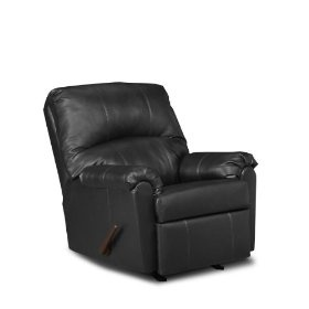 Black leather recliner instead of a glider, super comfortable!