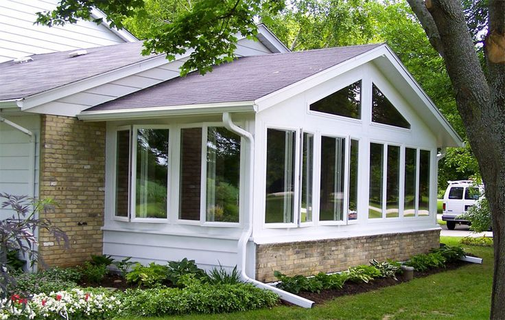 Pin by sandy hansen on decks porches pinterest for Screen room addition plans