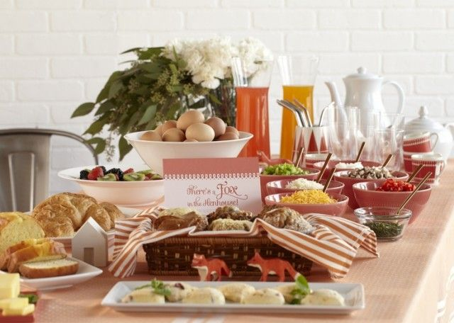 foxy baby shower brunch cool things pinterest