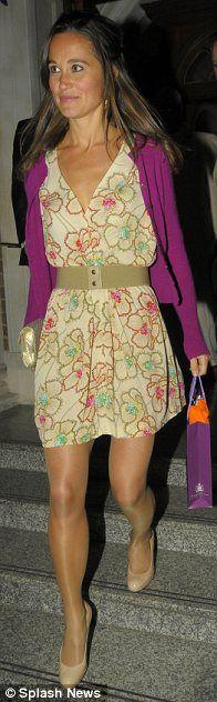 Pippa Middleton in pantyhose