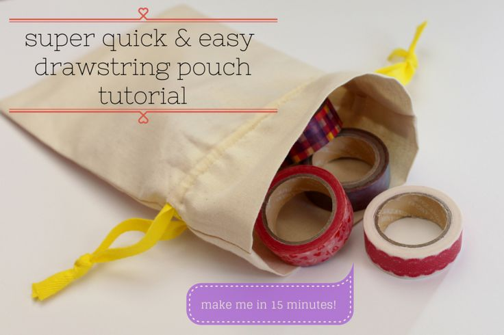 quick & easy drawstring pouch tutorial | handmade & home | Pinterest