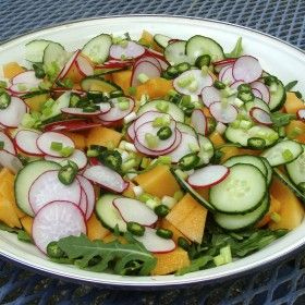 Spicy Cantaloupe Salad. Very sophisticated ands always gets people ...